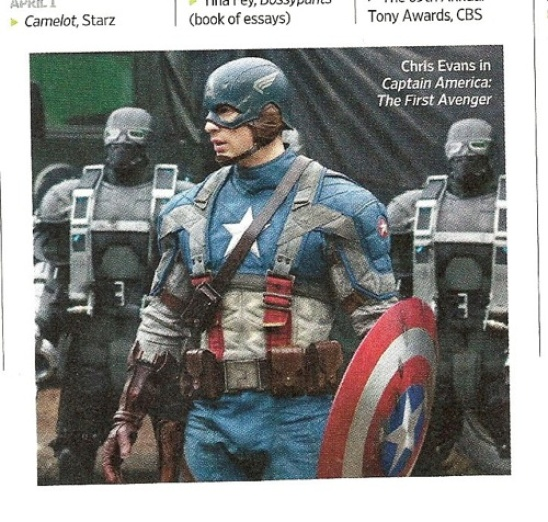 Official Picture of Chris Evans as Captain America