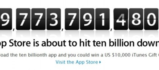 Apple to Give $10,000 to 10 Billionth Downloader