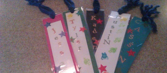 Easy Valentine's Project: Personalized Bookmarks