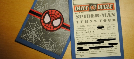Cool DIY Spider-Man Invites