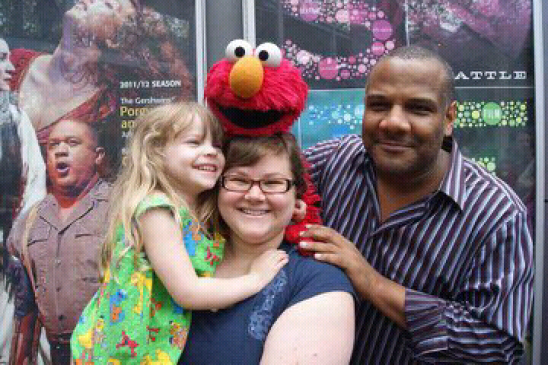 Kitty and I met Elmo this Weekend!