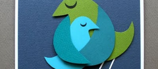 Make this adorbable bird card for Mom