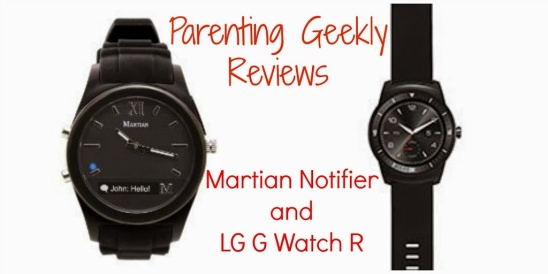More Wearables!  G G Watch R and Martian Notifier